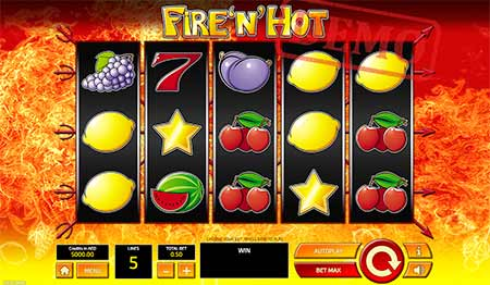 Permainan Fire n 'Hot Bitcoin Slot dari Tom Horn Gaming.